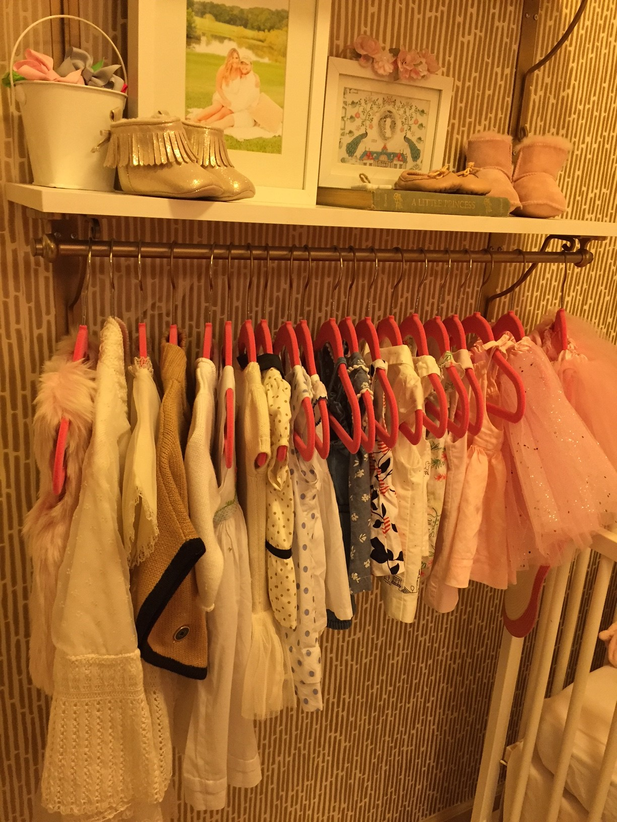 Dresses on Pink Hangers