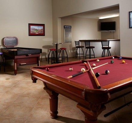Game Room at Camden Overlook Apartments in Raleigh, North Carolina